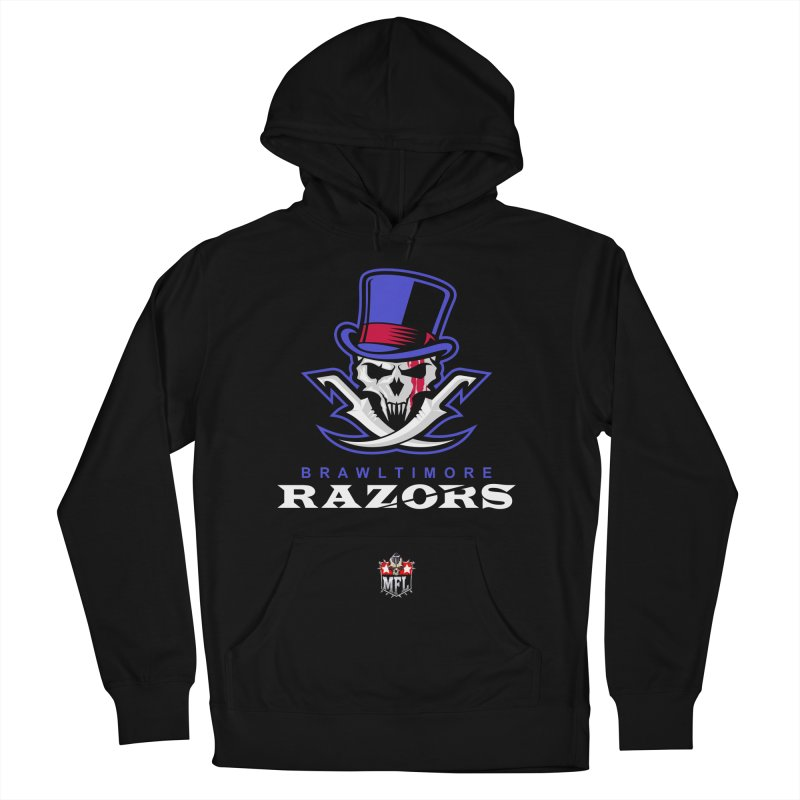 MFL Brawltimore Razors apparel Women's French Terry Pullover Hoody by Mutant Football League Team Store