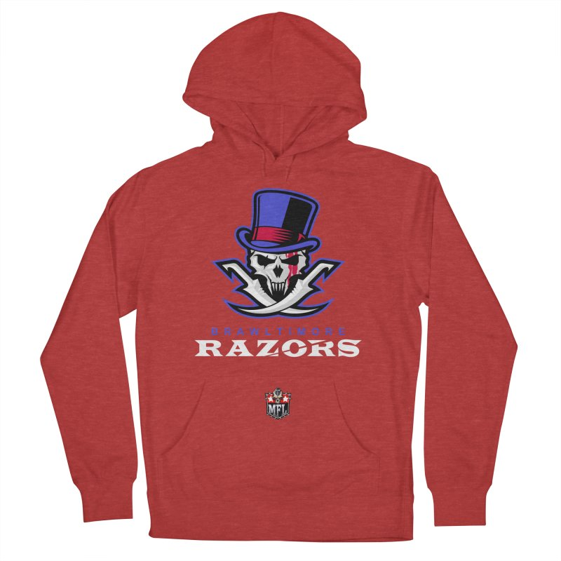MFL Brawltimore Razors apparel Men's French Terry Pullover Hoody by Mutant Football League Team Store