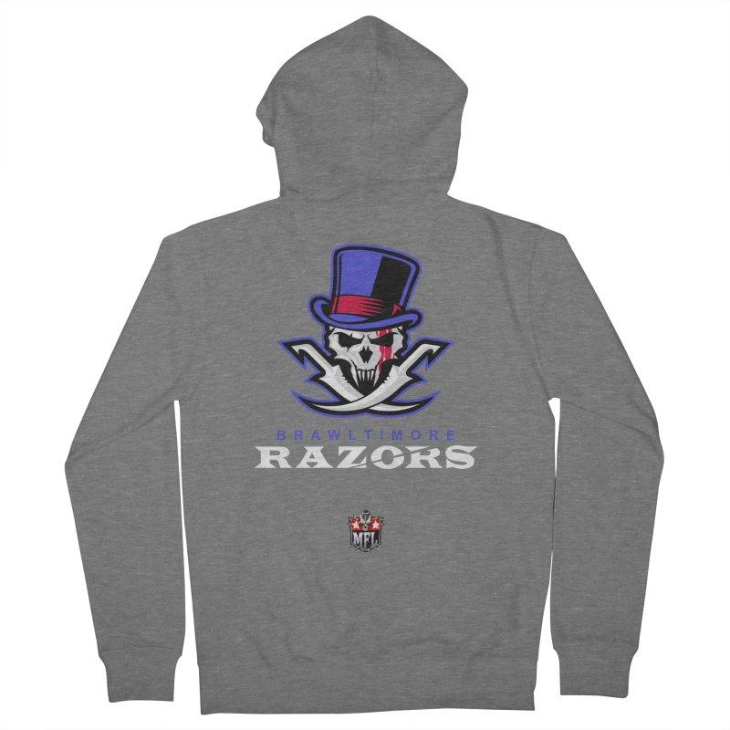MFL Brawltimore Razors logo Women's Zip-Up Hoody by Mutant Football League Team Store