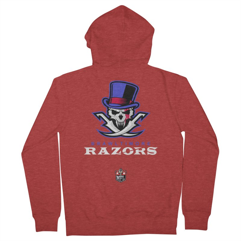 MFL Brawltimore Razors apparel Women's French Terry Zip-Up Hoody by Mutant Football League Team Store