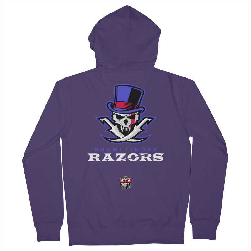 MFL Brawltimore Razors logo Women's Zip-Up Hoody by Mutant Football League Team Store