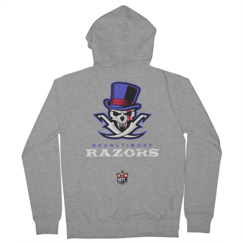 MFL Brawltimore Razors apparel Men's French Terry Zip-Up Hoody by Mutant Football League Team Store