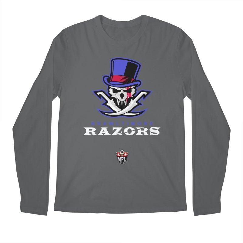 MFL Brawltimore Razors logo Men's Longsleeve T-Shirt by Mutant Football League Team Store