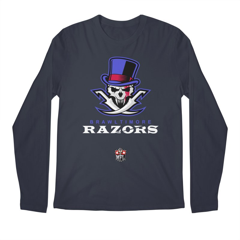 MFL Brawltimore Razors apparel Men's Regular Longsleeve T-Shirt by Mutant Football League Team Store