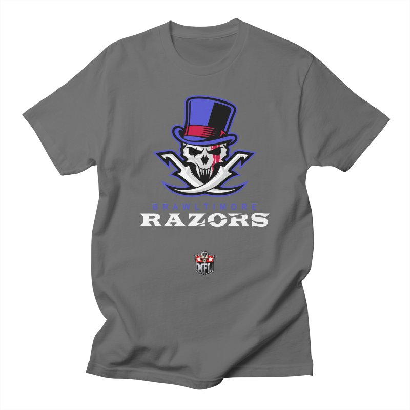 MFL Brawltimore Razors logo Men's T-Shirt by Mutant Football League Team Store