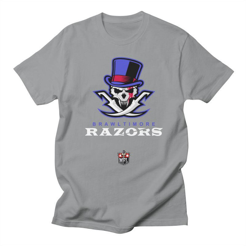 MFL Brawltimore Razors apparel Men's Regular T-Shirt by Mutant Football League Team Store