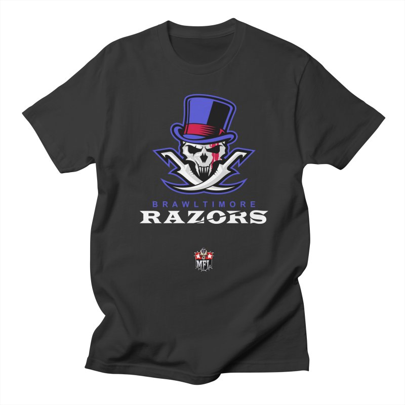 MFL Brawltimore Razors apparel Men's Regular T-Shirt by Mutant Football League Team Store