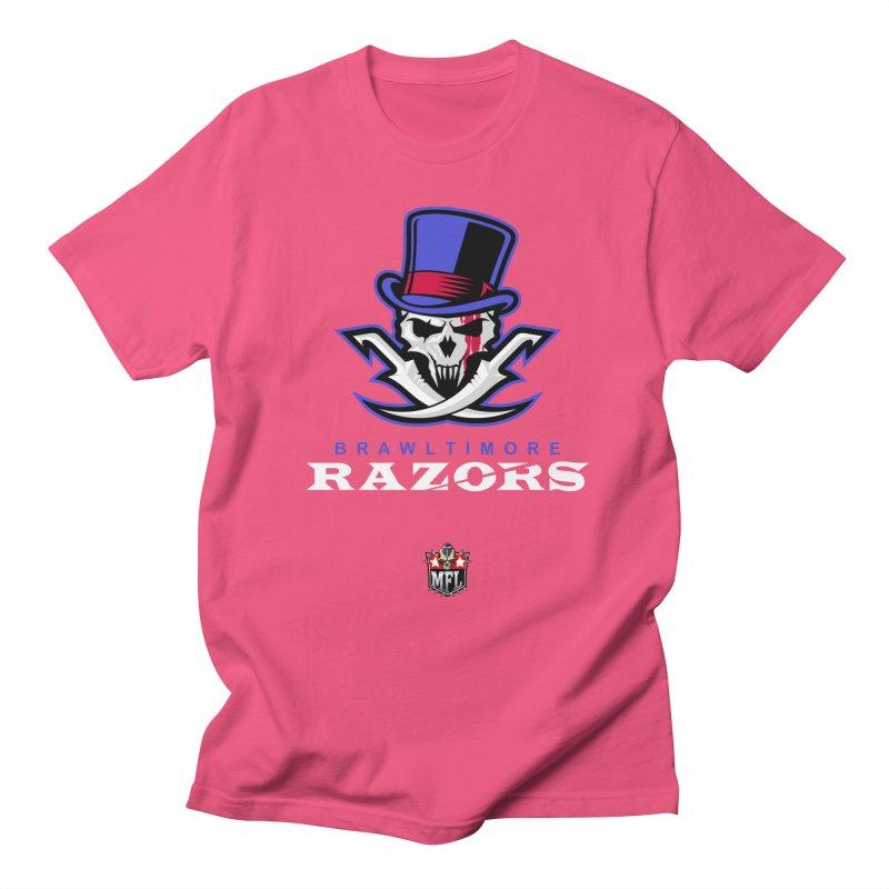 MFL Brawltimore Razors apparel Women's Regular Unisex T-Shirt by Mutant Football League Team Store