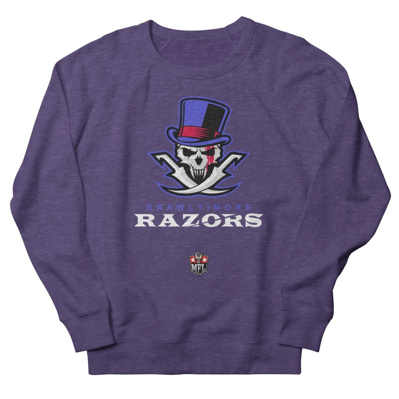 MFL Brawltimore Razors apparel Women's French Terry Sweatshirt by Mutant Football League Team Store