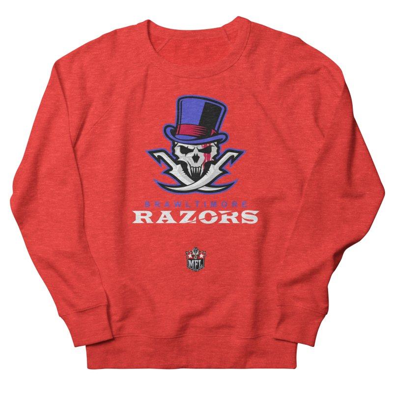MFL Brawltimore Razors logo Women's Sweatshirt by Mutant Football League Team Store