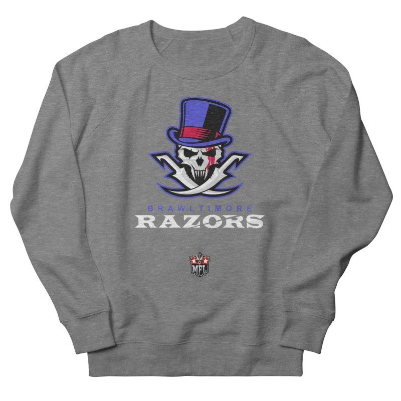 MFL Brawltimore Razors logo Men's Sweatshirt by Mutant Football League Team Store