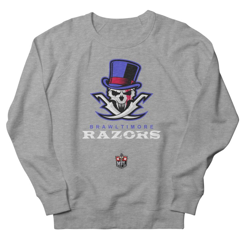 MFL Brawltimore Razors apparel Men's French Terry Sweatshirt by Mutant Football League Team Store