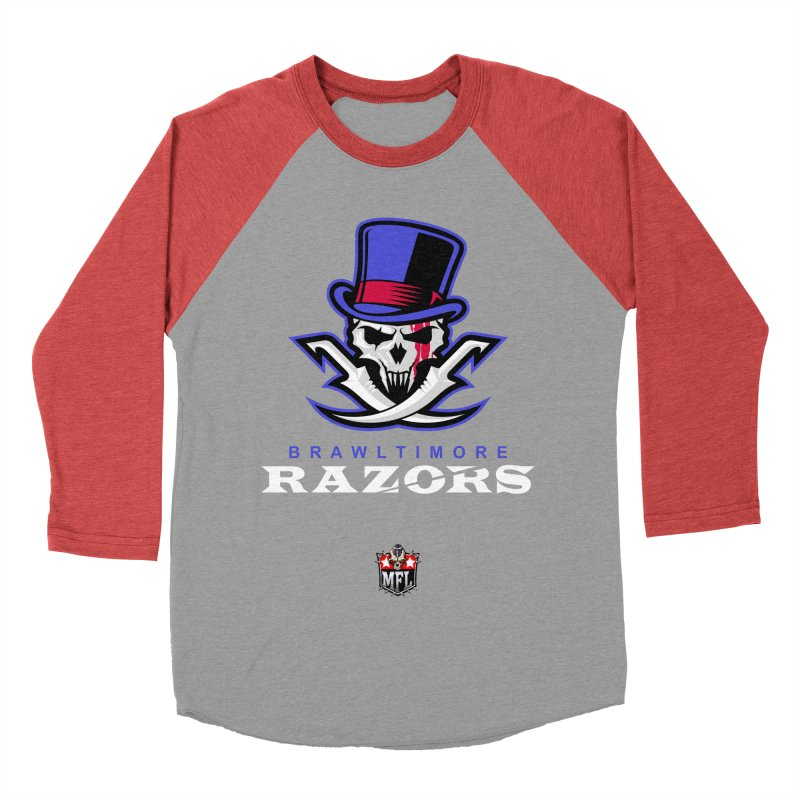 MFL Brawltimore Razors apparel Women's Baseball Triblend Longsleeve T-Shirt by Mutant Football League Team Store