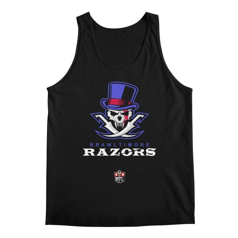 MFL Brawltimore Razors logo Men's Tank by Mutant Football League Team Store