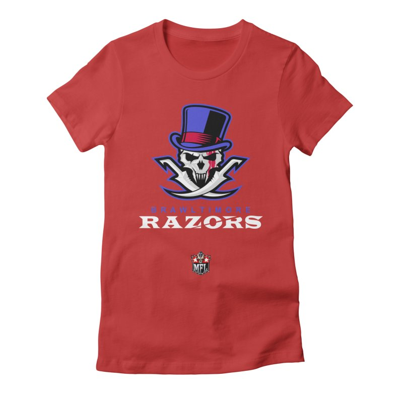 MFL Brawltimore Razors apparel Women's Fitted T-Shirt by Mutant Football League Team Store