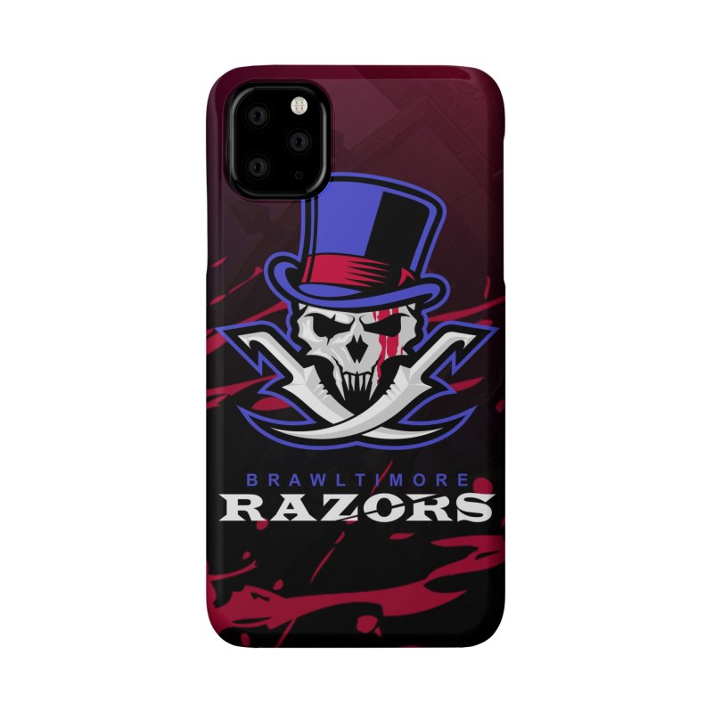 MFL Brawltimore Razors phone case Accessories Phone Case by Mutant Football League Team Store