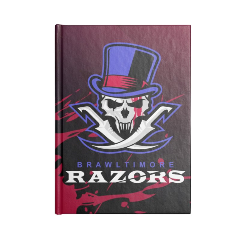 MFL Brawltimore Razors journal Accessories Lined Journal Notebook by Mutant Football League Team Store