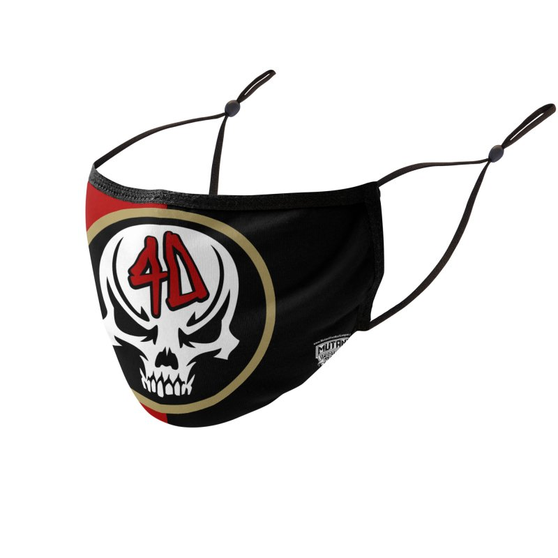 MFL Sin Fransicko Forty Nightmares logo Accessories Face Mask by Mutant Football League Team Store