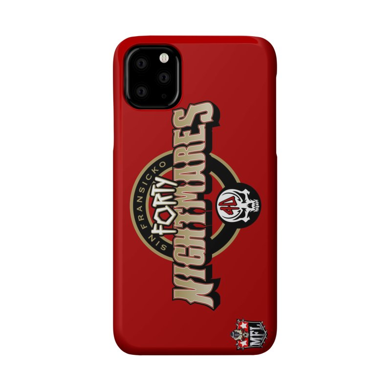 MFL Sin Fransicko Forty Nightmares logo Accessories Phone Case by Mutant Football League Team Store