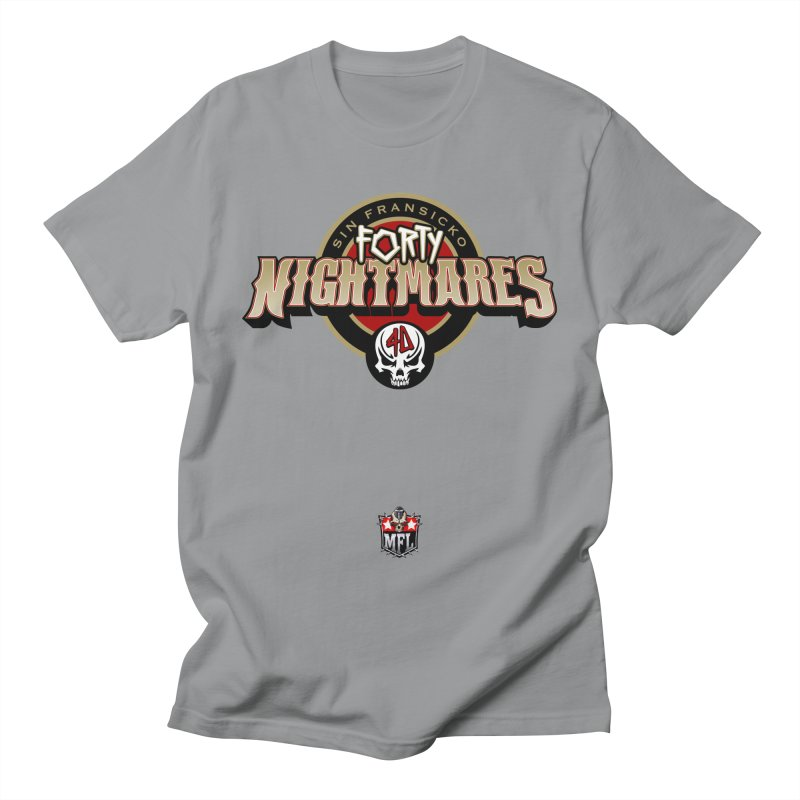MFL Sin Fransicko Forty Nightmares logo Men's T-Shirt by Mutant Football League Team Store