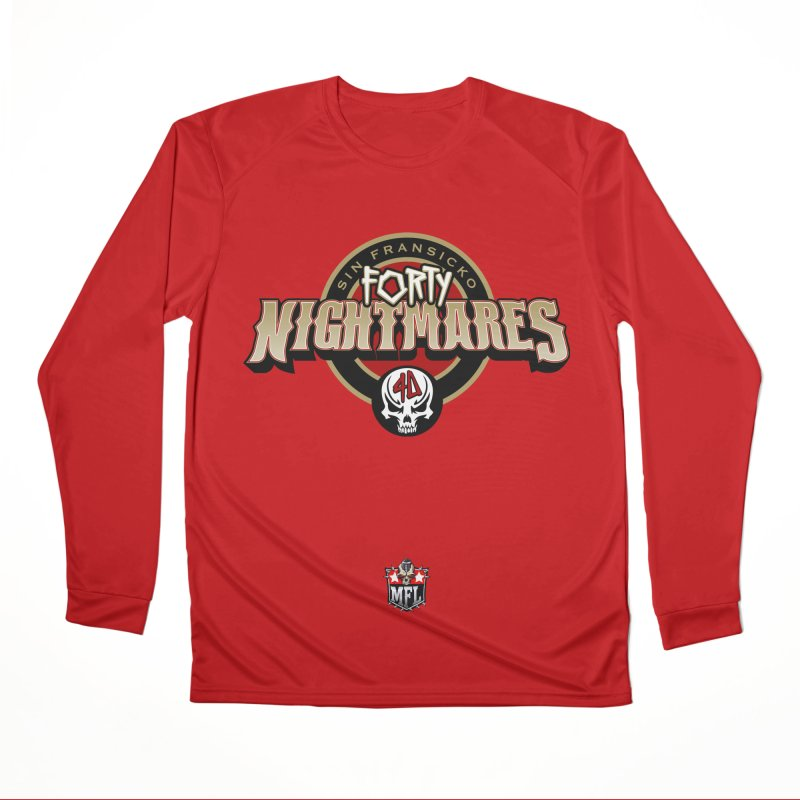 MFL Sin Fransicko Forty Nightmares logo Women's Performance Unisex Longsleeve T-Shirt by Mutant Football League Team Store