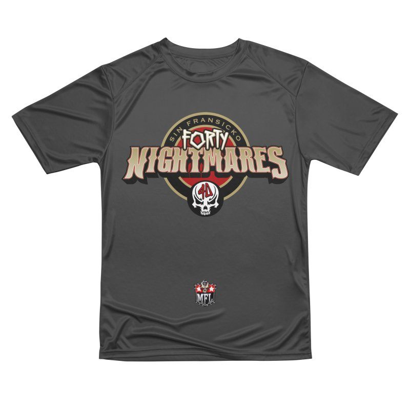 MFL Sin Fransicko Forty Nightmares logo Men's Performance T-Shirt by Mutant Football League Team Store