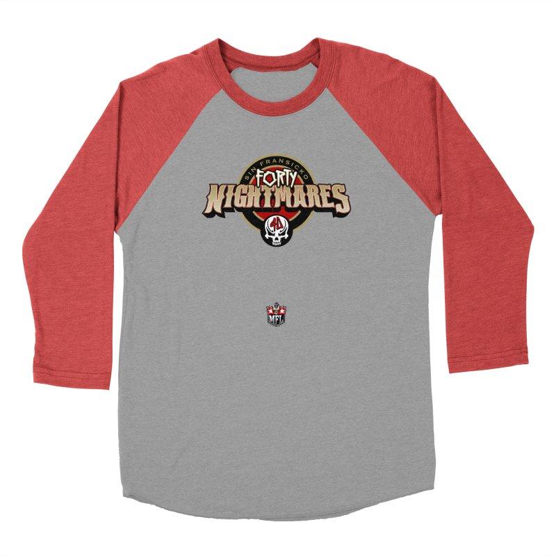 MFL Sin Fransicko Forty Nightmares logo Women's Longsleeve T-Shirt by Mutant Football League Team Store