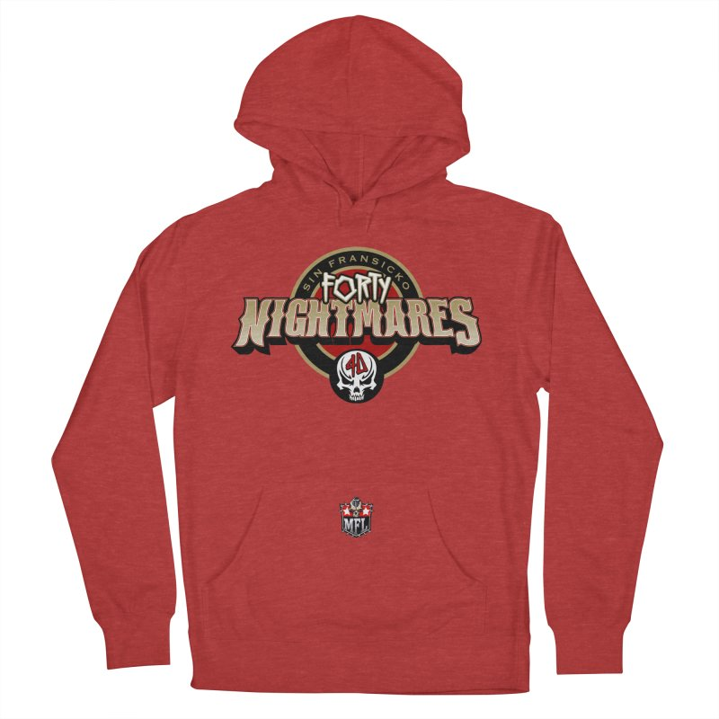 MFL Sin Fransicko Forty Nightmares apparel Women's French Terry Pullover Hoody by Mutant Football League Team Store
