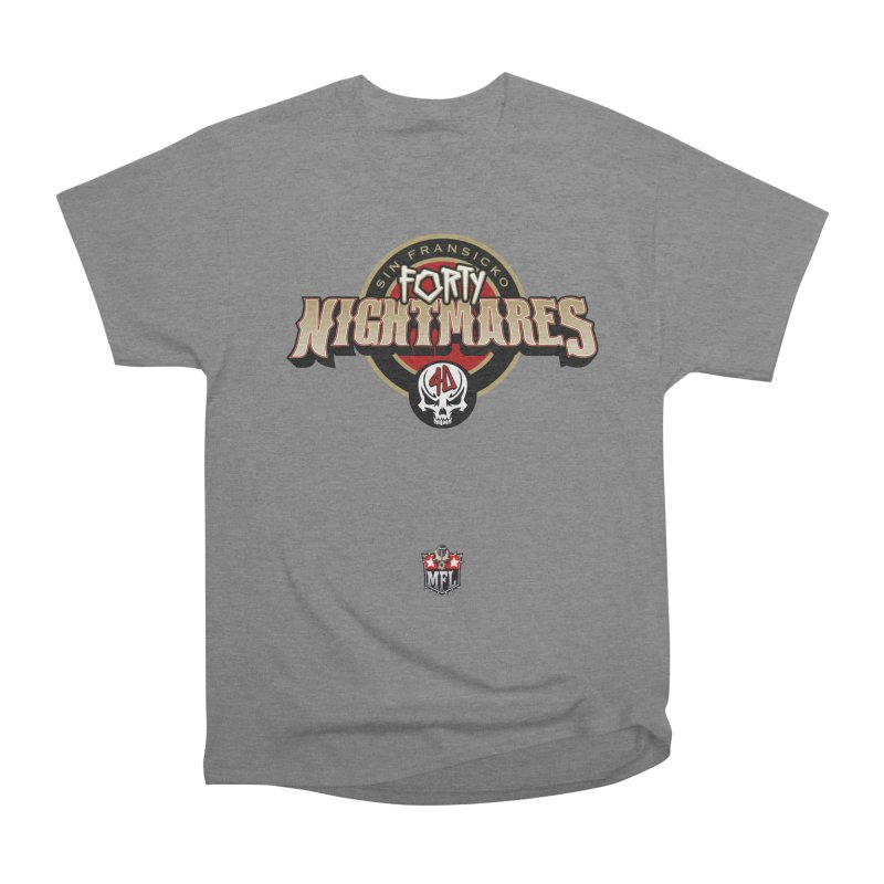 MFL Sin Fransicko Forty Nightmares apparel Men's Heavyweight T-Shirt by Mutant Football League Team Store