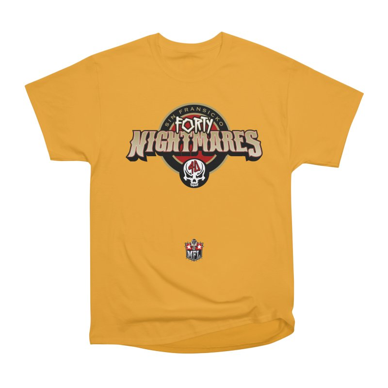 MFL Sin Fransicko Forty Nightmares logo Men's Heavyweight T-Shirt by Mutant Football League Team Store