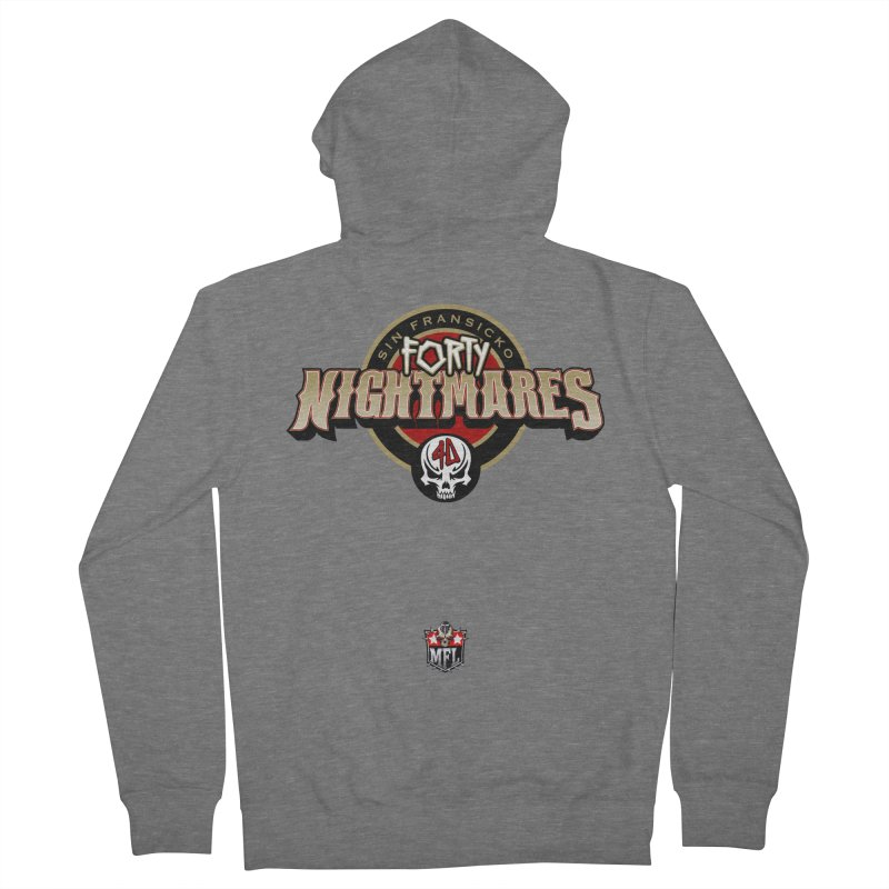 MFL Sin Fransicko Forty Nightmares logo Women's Zip-Up Hoody by Mutant Football League Team Store