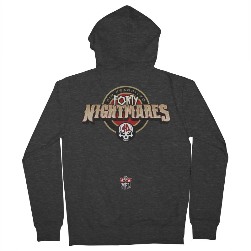 MFL Sin Fransicko Forty Nightmares logo Men's Zip-Up Hoody by Mutant Football League Team Store