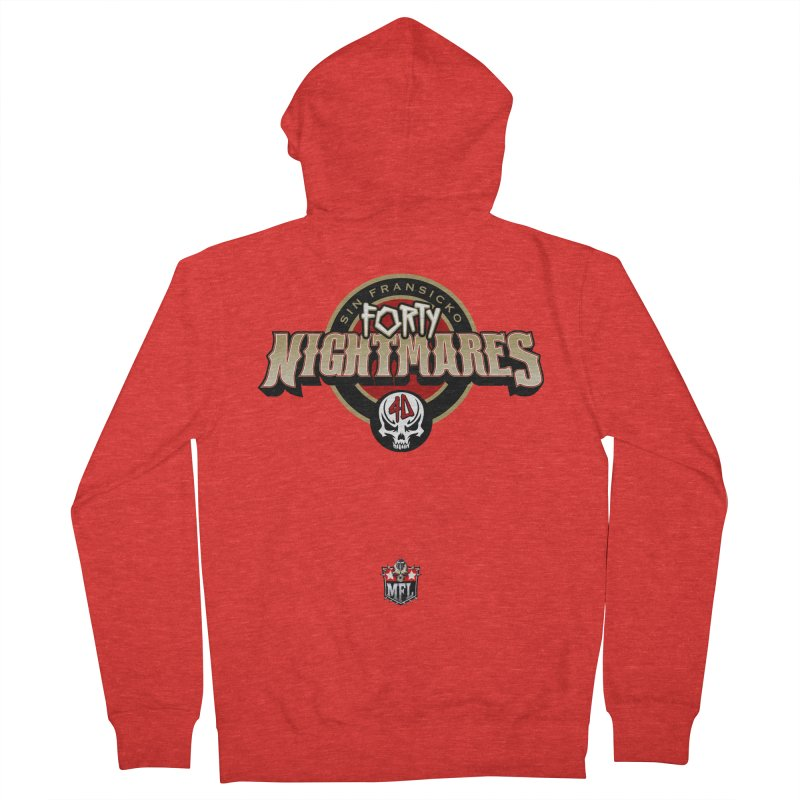 MFL Sin Fransicko Forty Nightmares logo Men's Zip-Up Hoody by Mutant Football League Team Store