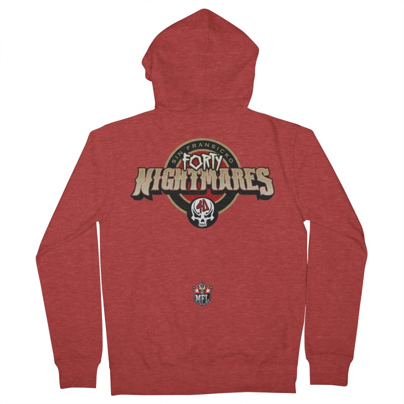 MFL Sin Fransicko Forty Nightmares logo Men's French Terry Zip-Up Hoody by Mutant Football League Team Store