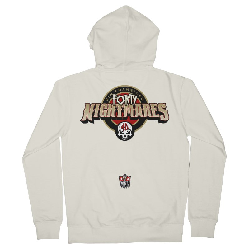 MFL Sin Fransicko Forty Nightmares apparel Men's French Terry Zip-Up Hoody by Mutant Football League Team Store
