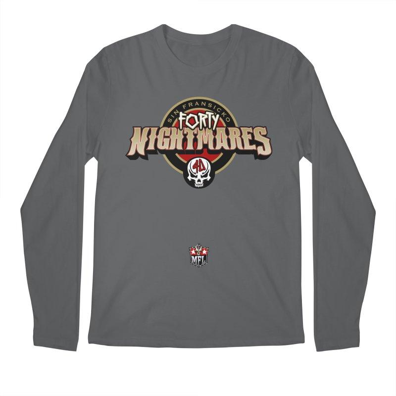 MFL Sin Fransicko Forty Nightmares logo Men's Longsleeve T-Shirt by Mutant Football League Team Store