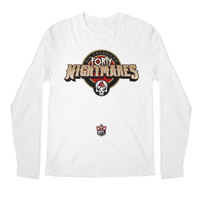 MFL Sin Fransicko Forty Nightmares logo Men's Regular Longsleeve T-Shirt by Mutant Football League Team Store
