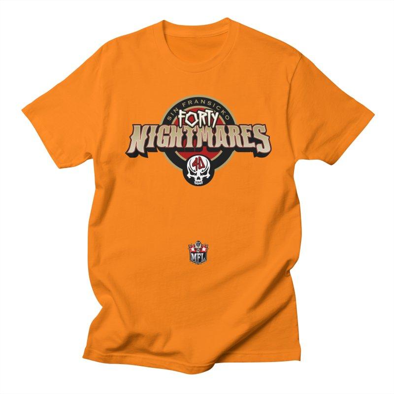 MFL Sin Fransicko Forty Nightmares logo Men's Regular T-Shirt by Mutant Football League Team Store