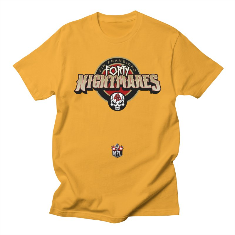 MFL Sin Fransicko Forty Nightmares logo Women's T-Shirt by Mutant Football League Team Store