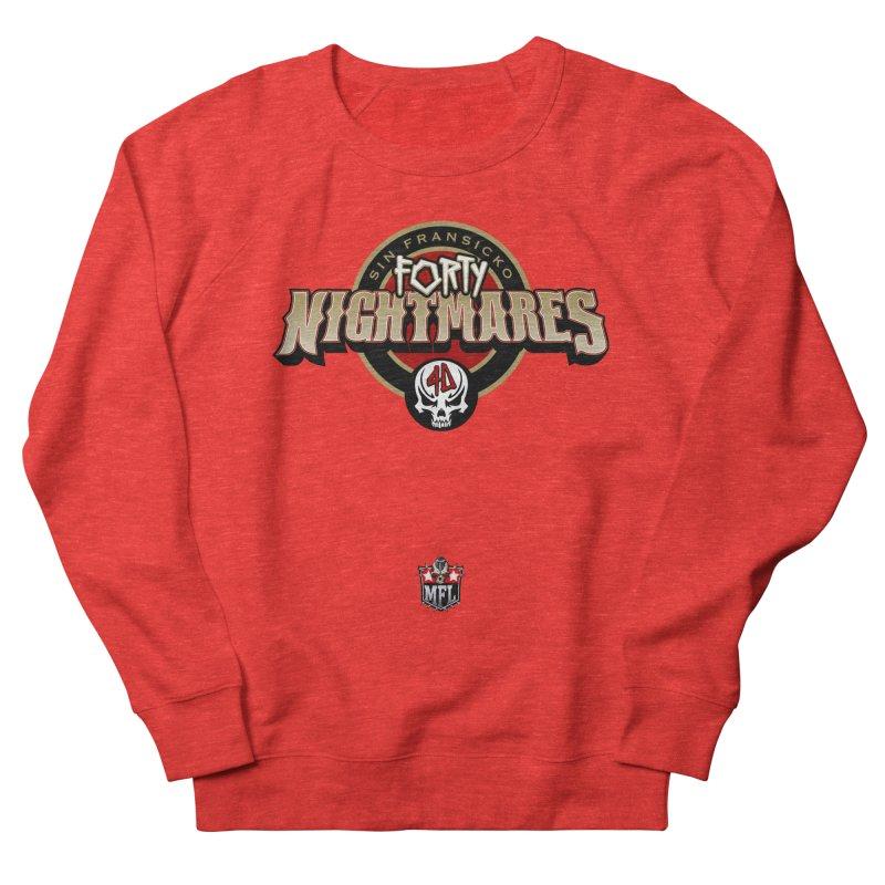 MFL Sin Fransicko Forty Nightmares logo Women's Sweatshirt by Mutant Football League Team Store