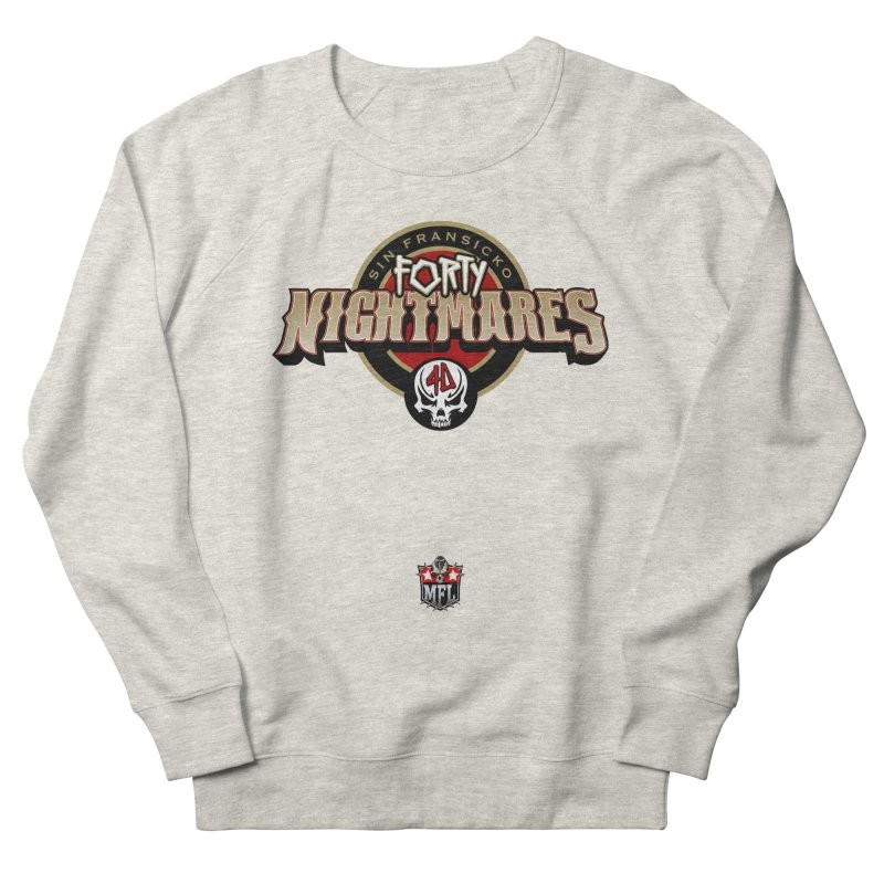 MFL Sin Fransicko Forty Nightmares logo Women's French Terry Sweatshirt by Mutant Football League Team Store