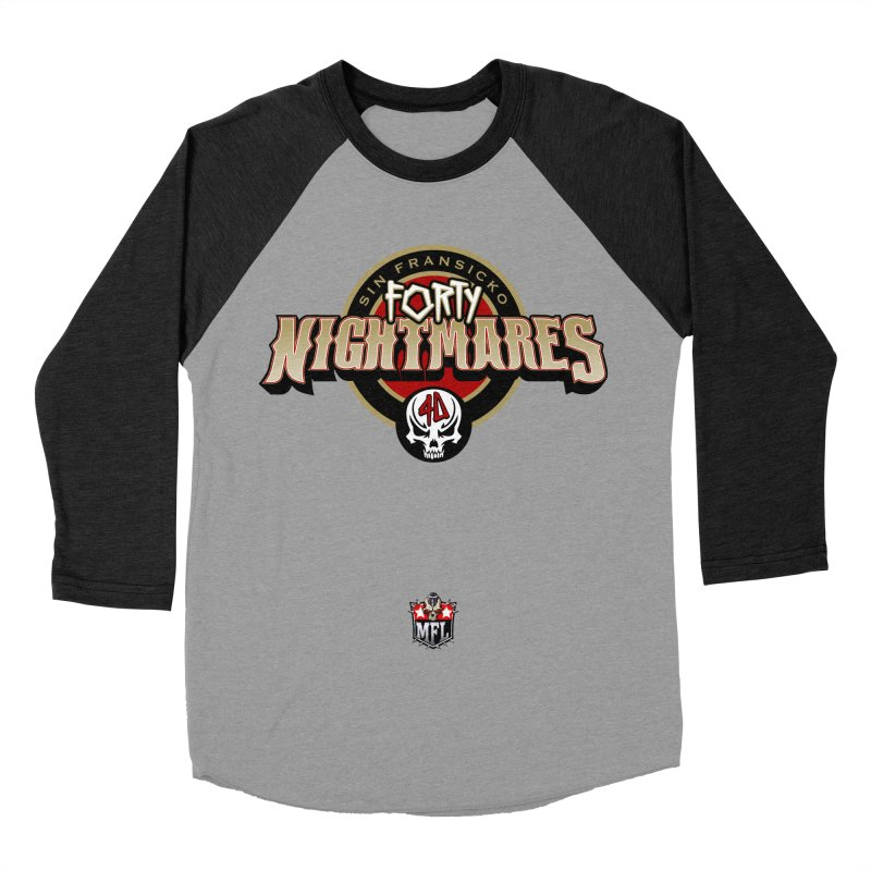 MFL Sin Fransicko Forty Nightmares logo Women's Baseball Triblend Longsleeve T-Shirt by Mutant Football League Team Store