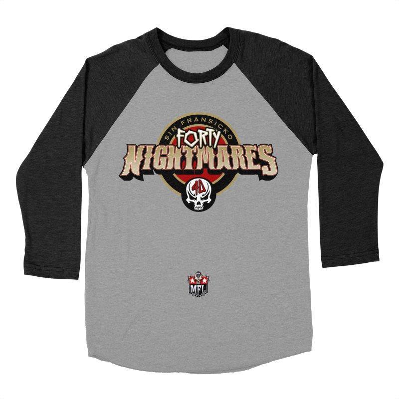 MFL Sin Fransicko Forty Nightmares apparel Men's Baseball Triblend Longsleeve T-Shirt by Mutant Football League Team Store