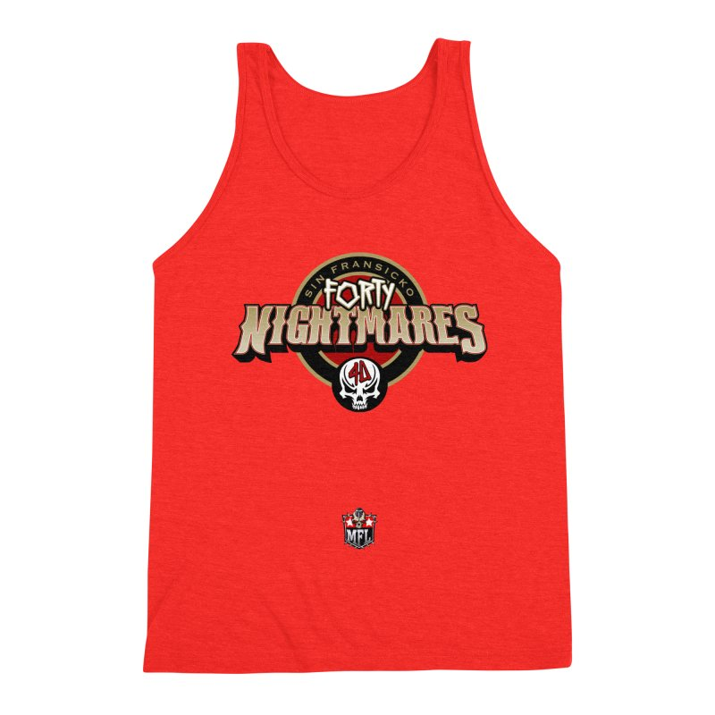 MFL Sin Fransicko Forty Nightmares logo Men's Tank by Mutant Football League Team Store