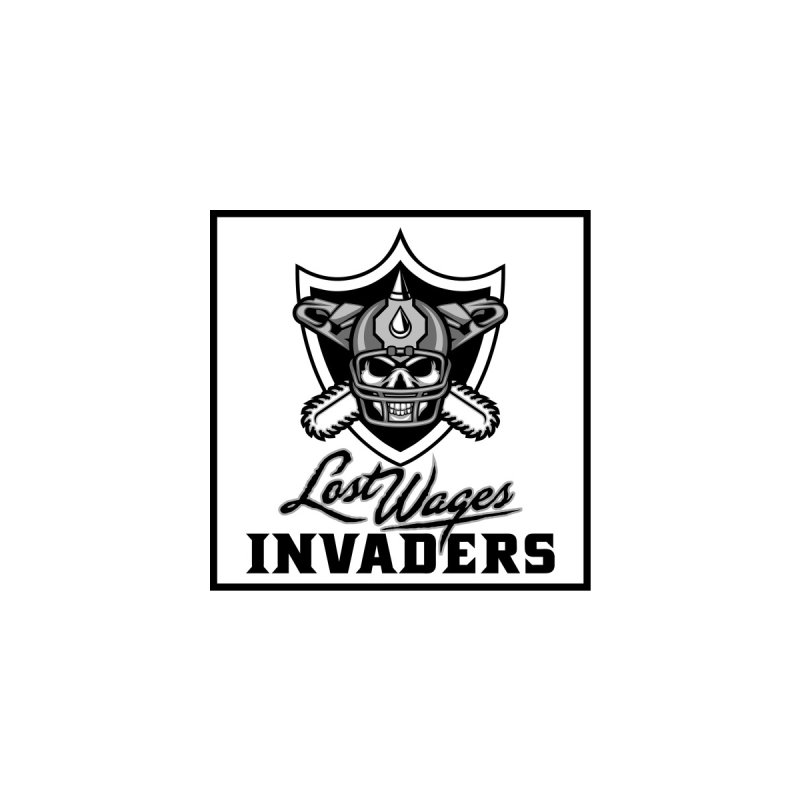MFL Lost Wages Invaders logo Men's T-Shirt by Mutant Football League Team Store