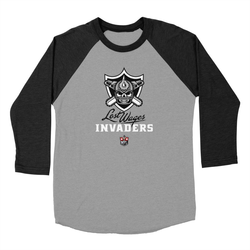 MFL Lost Wages Invaders logo Women's Longsleeve T-Shirt by Mutant Football League Team Store