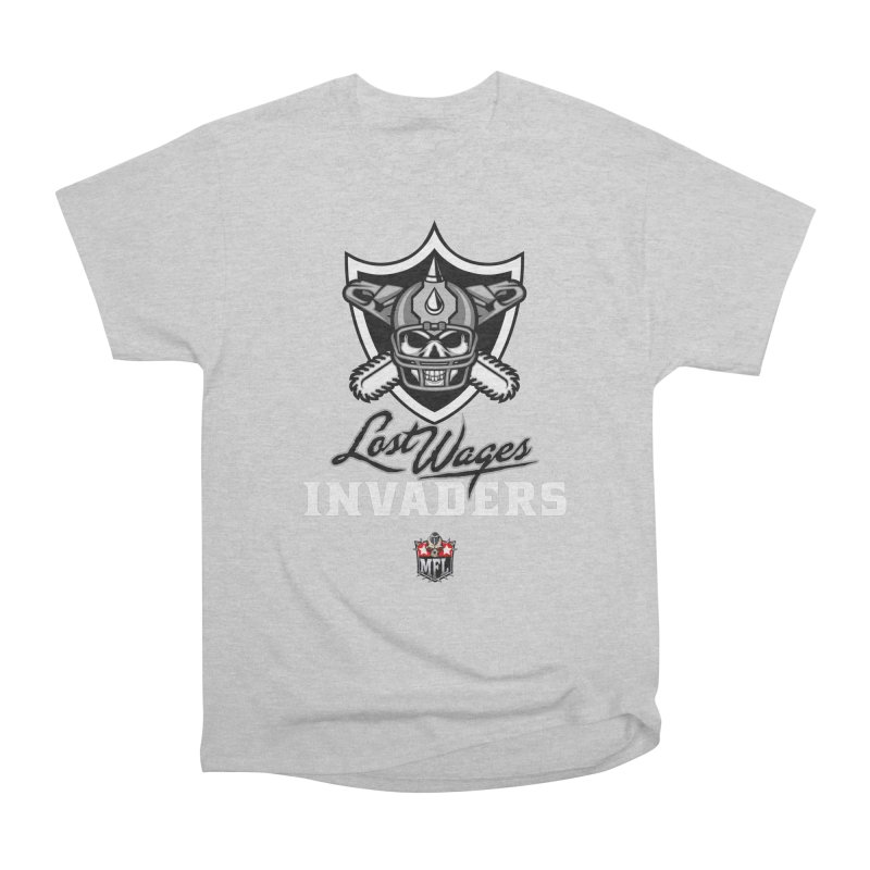 MFL Lost Wages Invaders logo Women's T-Shirt by Mutant Football League Team Store
