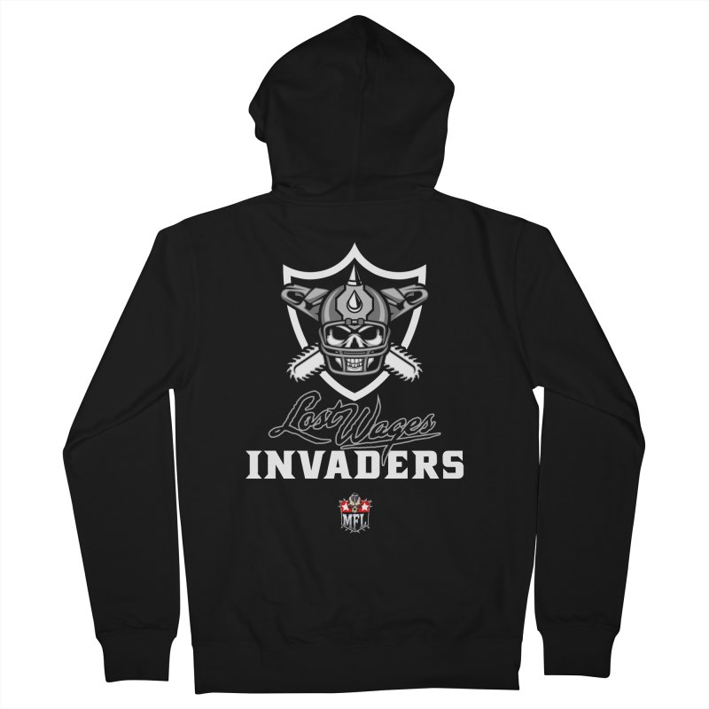 MFL Lost Wages Invaders logo Men's Zip-Up Hoody by Mutant Football League Team Store