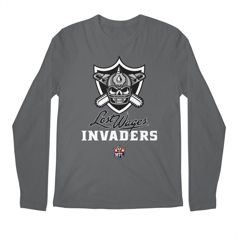 MFL Lost Wages Invaders logo Men's Longsleeve T-Shirt by Mutant Football League Team Store