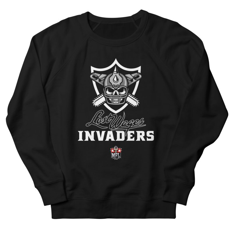 MFL Lost Wages Invaders logo Men's Sweatshirt by Mutant Football League Team Store
